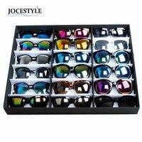 Sunglasses Organizer 18 Grid Watches Eyewear Holder Storage Box Container Case Men Women Jewellery Holder