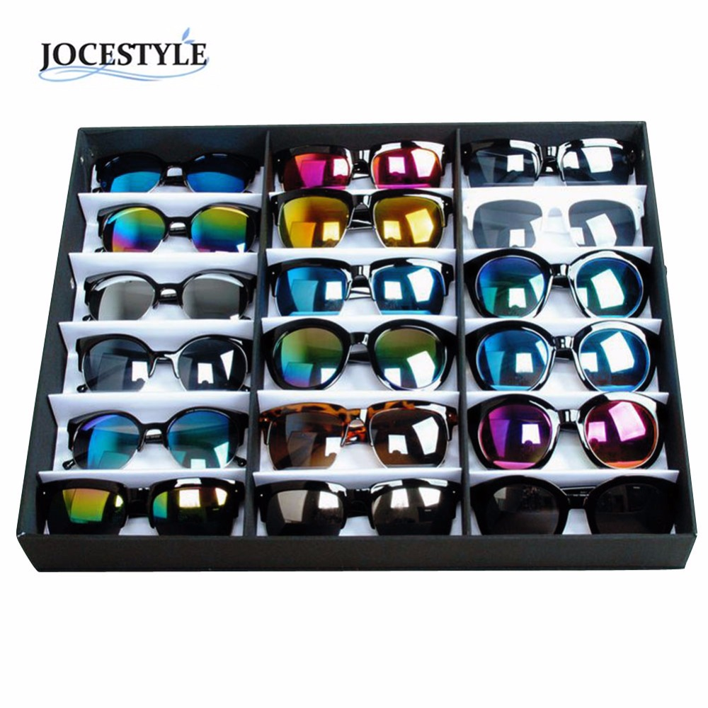 18 Sunglasses Glasses Retail Shop Display Stand Storage Box Case Tray Black Sunglasses Eye wear Display Tray Case Stand hot sale все цены