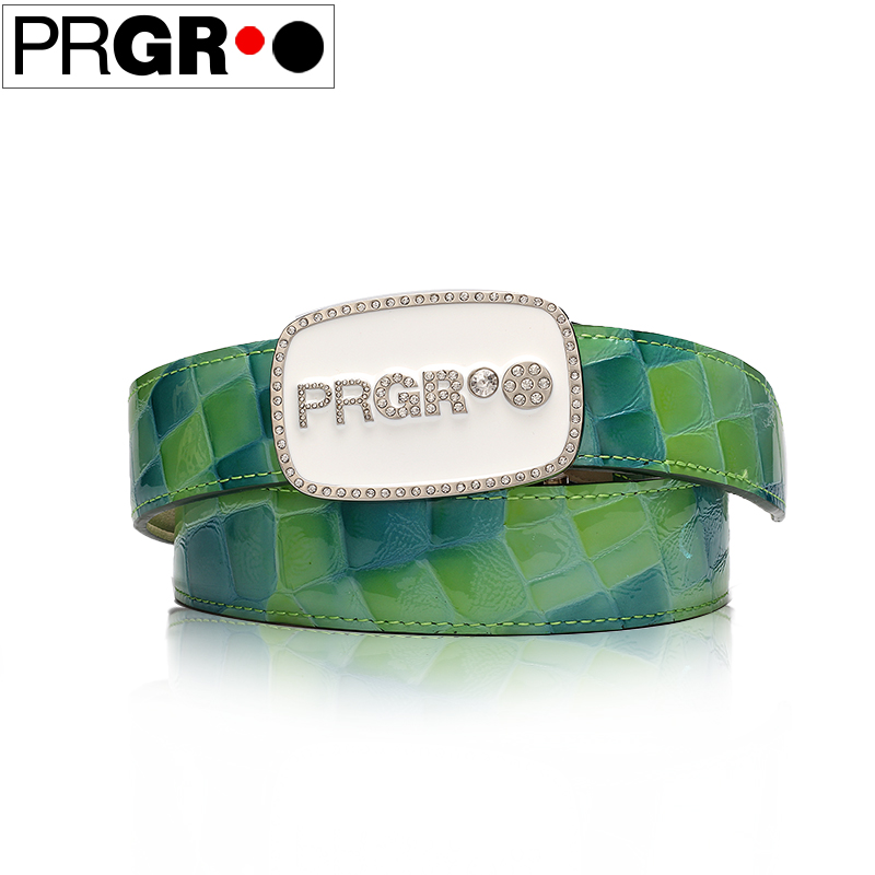Prgr lady golf strap womens golf waistband sports green waistbelt of trousers belt strap green genuine leather 85`105cm