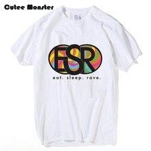 5f7c36757e1 Cutee Monstro Comer Sono Repetição Delírio T shirt Homens Verão Hip Hop  Carta Tops ESR Moda