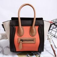 Smiley Bag Trapeze Small Messenger Bags for Women Leather Handbag Shoulder Bag 2018 Famous Designer Cross Body Bags Sac A Mian