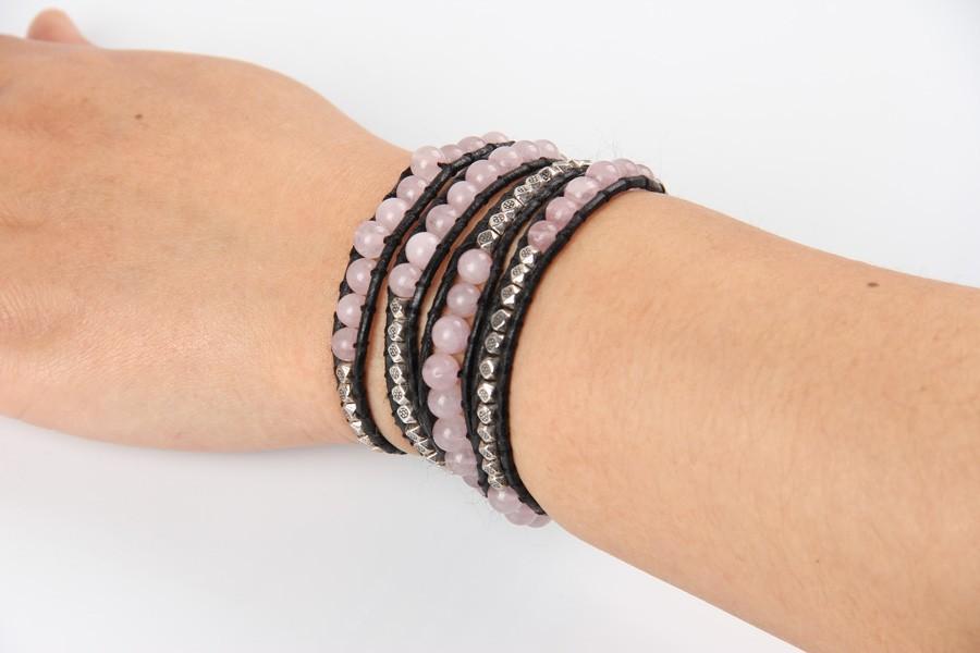 rose quartz stone bracelet (3)