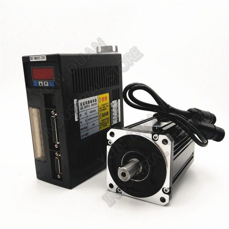 750W NEMA32 80mm flange 2 39NM 220V 3000R Min AC Servo Drive Motor with holding brake