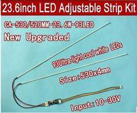 2pcs/lot New 530mm Adjustable brightness ccfl led backlight strip kit,Update 23.6inch ccfl lcd monitor to led bakclight