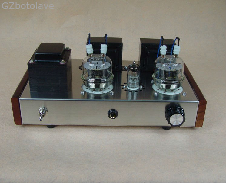 JBH 6n2 FU32 <font><b>tube</b></font> <font><b>amplifier</b></font> headphone output Handmade scaffolding lamp amp ST version JBHFU32ST image
