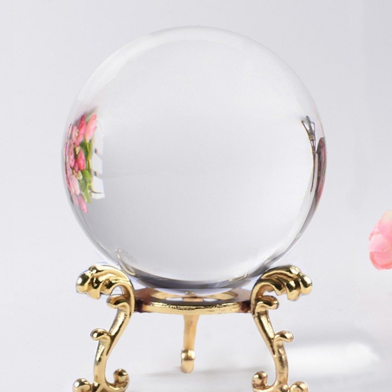 6 /7/8Cm Photography Crystal Round Seed Beads Feng Shui Clear Color Magic Natural Glass Balls For Home Wedding Decoratio