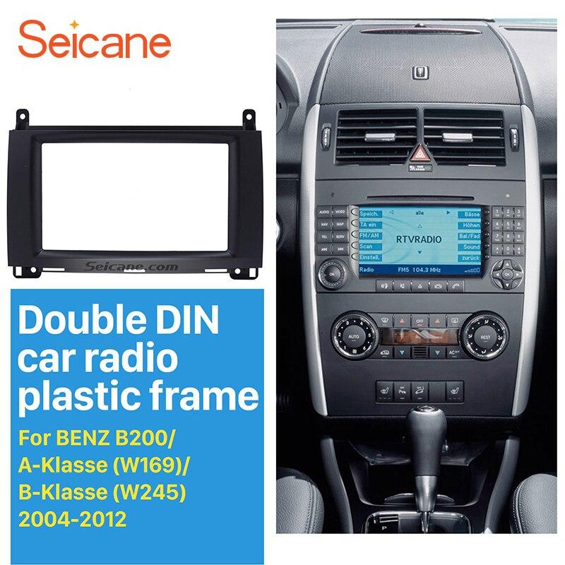US $26 89 10% OFF|Seicane 2Din Car Radio Fascia for 2004 2012 Mercedes BENZ  B200 A Klasse W169 B Klasse W245 DVD Panel Plate Dash Installation Kit-in