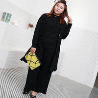 Plus Size Women Sets 3 Pieces In One Classic Black Design Fitting Weight 65 125 KG
