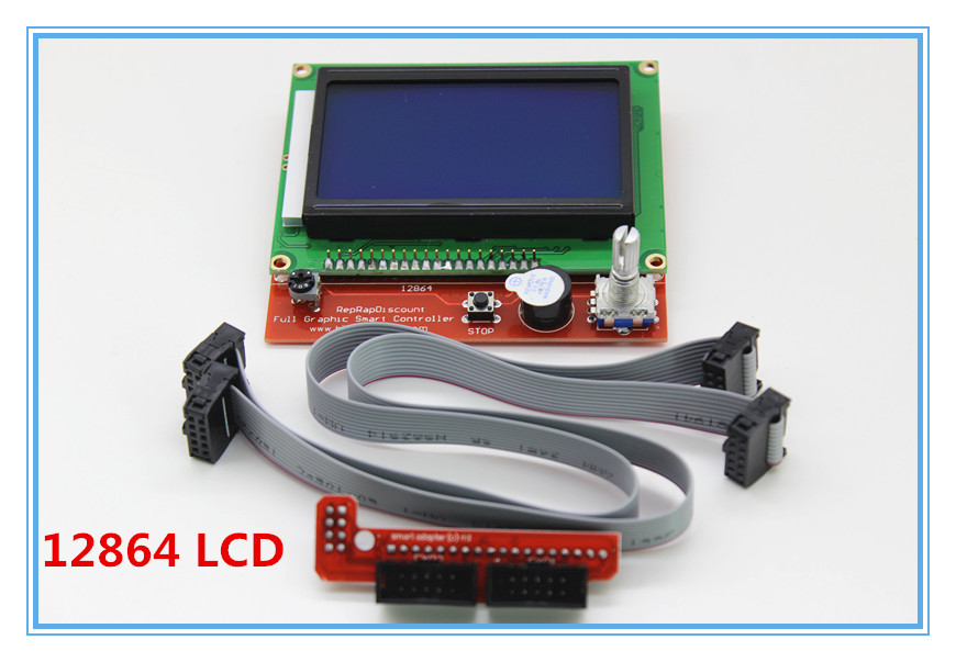 1 pcs RAMPS1.4 LCD 12864 Control Panel 3D Printer Smart Controller LCD Display Free Shipping Drop Shipping L101