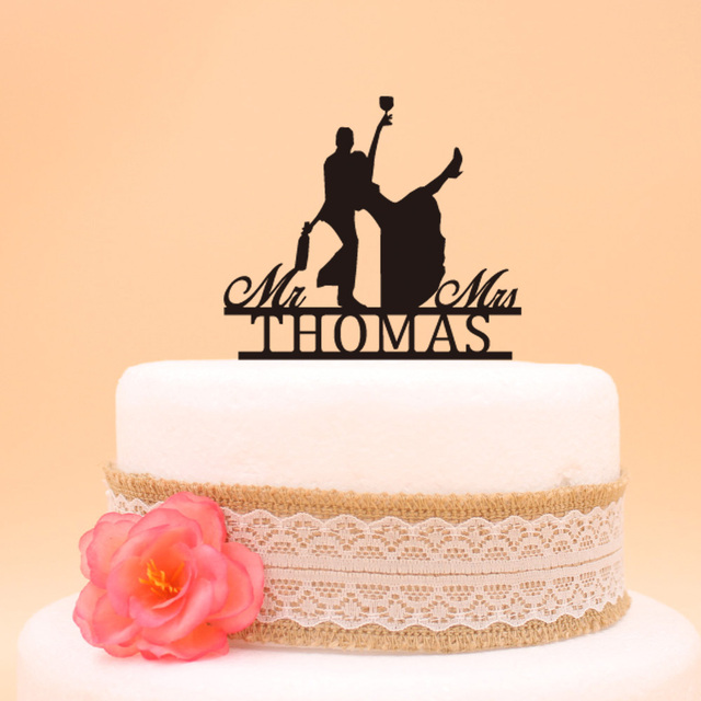 Personalized Drunk Bride and Groom Cake Topper Acrylic Lover Wedding ...