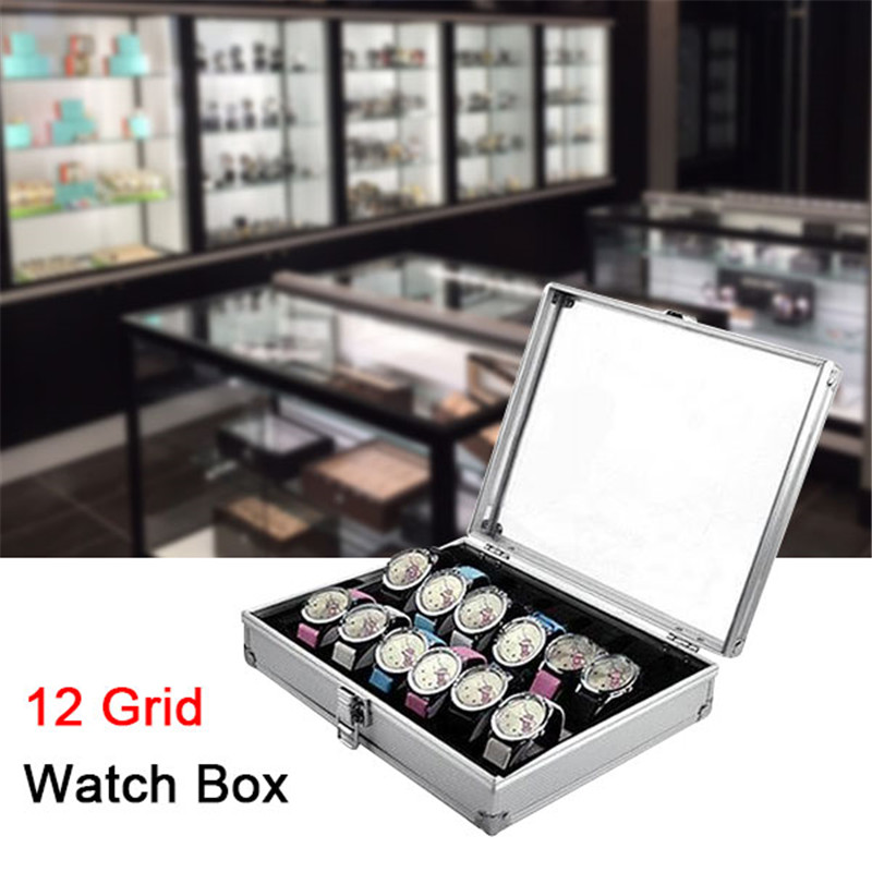Glass Fragile Pack More Cotton Delivery 12 Grid Watch Box Watch Display Storage Box Bracket Accessories Decorative Cabinet