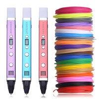 Новейшая 3D ручка Aveibee USB ручка для рисования с 100 метром 20 цветов нить из ПКЛ Лучший 3 D игла принтера для ребенка подарок на день рождения