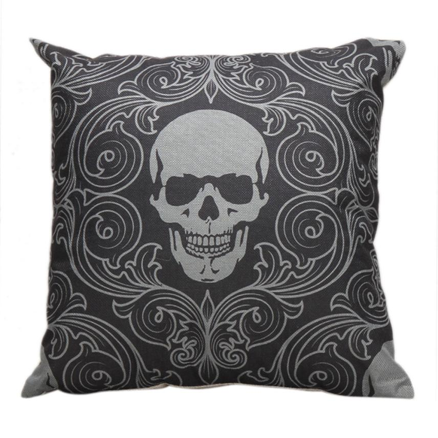 Newest Cushion Cover Halloween Skull Pillow Case Sofa Waist Throw Cushion Cover Home Decor Levert Dropship dig6727