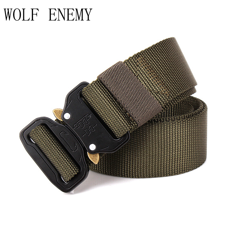 New Tactical Gear Heavy Duty Military Combat Belt Men SWAT Knock Off US Soldier Army Nylon Belts 3.8cm Hunting Accessories
