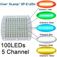 DIY Cree XPE 100W LED Emitter Light Red Green Blue White Yellow RGBWY 5 Channel Mix Color 30 34V 750mA 82x66MM Copper PCB Board