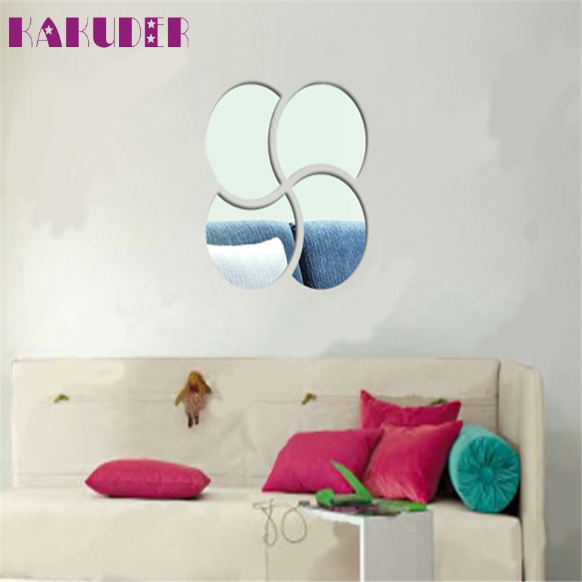 Zero 3D Circles Mirror Puzzle Home Decor Bell Cool Mirrors Wall Stickers