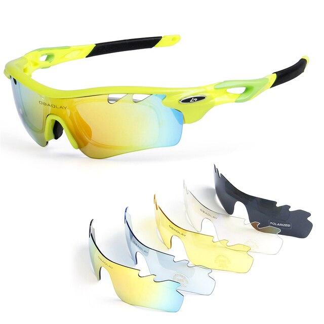 670ec6bc00 4 lente polarizada ciclismo gafas de sol bicicleta UV400 deportes pesca  patinaje viajar gafas con el