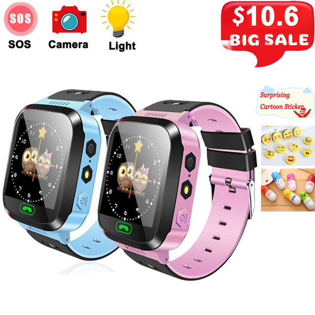 Q02 Kids Smart Watch SOS Call Camera Baby Anti-lost Clock Touch Screen Phone LBS Positioning Location Children's Watch Kids Gift