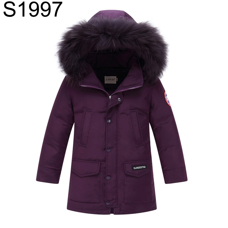 2017 Winter Kids Boys Warm Duck Down Jackets Big Boy Casual Big Pocket Thick Down Coat Children Large Fur Collar Hooded Clothing duck down jacket for boys 2017 russia winter warm thick down parkas children casual fur hooded jackets coats 30 degrees