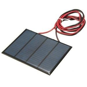 Image 2 - Hot Koop 12 V 1.5 W 100 MAh Polykristallijne silicium Zonnepaneel PV module Mini Zonnecellen Batterij Telefoon oplader met Lasdraad
