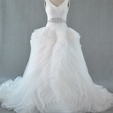 SexeMara Luxury V-neck Wedding Dress Bridal Gown