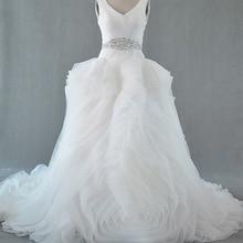 SexeMara Luxury V-neck Wedding Dress Bridal Gown
