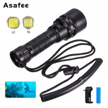 Mini Portable Leisure Diving Flashlight Torch Waterproof Cree XML L2 LED Useful Recreational Diving Tool Light+Battery Charger sitemap 19 xml
