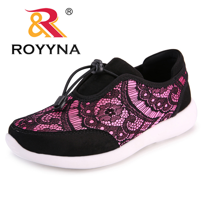 ROYYNA New Cute Design Women Sneakers Shoes Flower Femme Casual Shoes Mesh Lady Flats Outdoor Chaussure Femme Zapatos Mujer royyna new cute design women sneakers shoes flower femme casual shoes mesh lady flats outdoor chaussure femme zapatos mujer