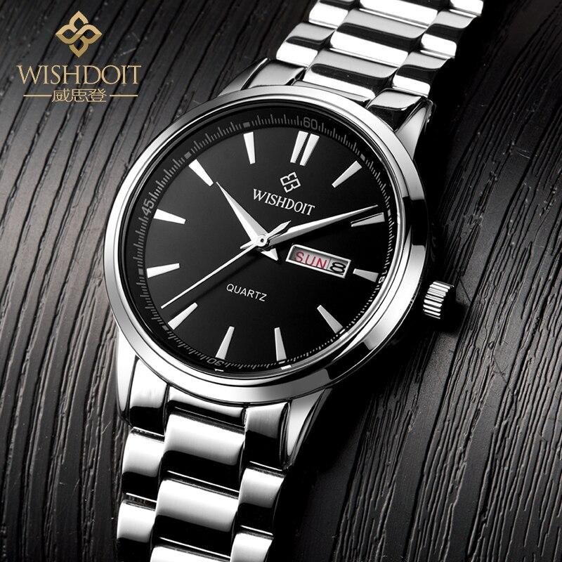 WISHDOIT Wrist Watch Men 2017 Top Brand Luxury Famous Wristwatch Male Clock Quartz Watch Hodinky Quartz-watch Relogio Masculino