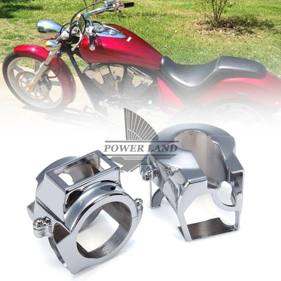 2pcs Chrome CNC Aluminum Motorcycle Handlebar Switch Housing Cover For Honda Shadow 600 Vt 750 Spirit Vtx 1300 Vt1300c Vlx Ace franke princess 750 chrome