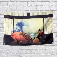 Japanese Ukiyo-e Poster Banners Dormitory bedroom living room classroom Wall Decoration Hanging Art Waterproof Cloth Flags(China)