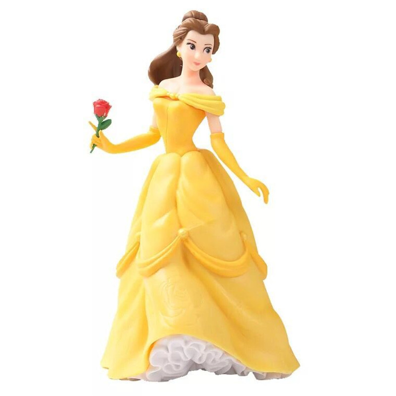1pieces/lot 21cm big pvc belle princess tangeled belle doll girs ltoys Holiday gifts Christmas gift furnishing articles