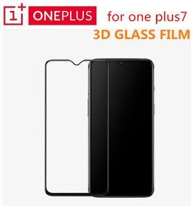 Image 1 - מקורי Oneplus 7 3D מזג זכוכית מלא כיסוי מסך מגן התאמה מושלמת מעוקל קצה סופר קשה 9H ברור Oleophobic ציפוי