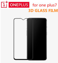 Original Oneplus 7 3D Tempered Glass Full Cover Screen Protector Perfect Fit Curved Edge Super Hard 9H Clear Oleophobic Coating