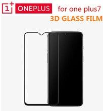 Original oneplus 7 3d vidro temperado cobertura completa protetor de tela ajuste perfeito borda curvada super duro 9 h claro revestimento oleophobic