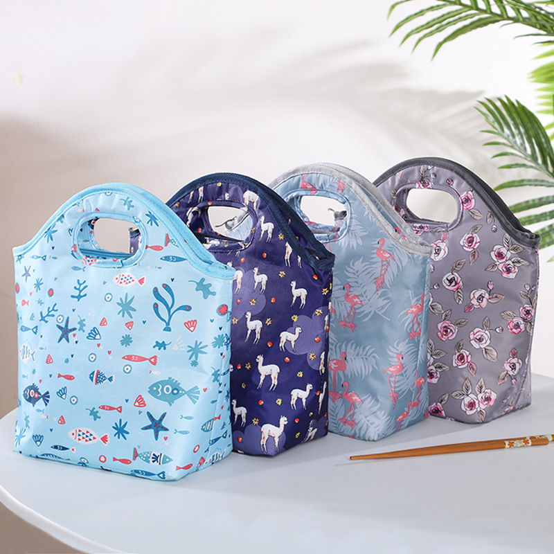 New Fashion Large Capacity Waterproof Nylon Lunch Bags Women Student Lunch Box Thermo Bag Office School Picnic Cooler Bags Bolso