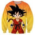 Anime Moletom Mulheres Gráfico De Dragon Ball Z Goku Garoto Outerwear Manga Longa 3D Impresso Hoodies Pullovers Crewneck Suam Tops