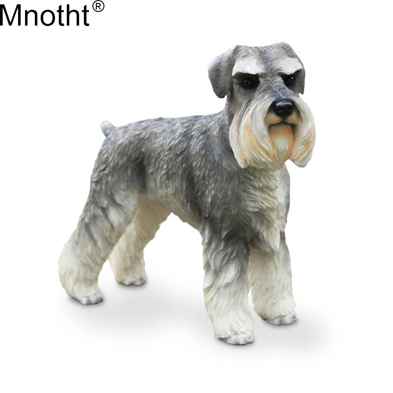 Mnotht 1/6 Germany Schnauzer Simulation Animal Dog Model Scene Accessory Toy for Action Figure Collection Lying/Standing Posture