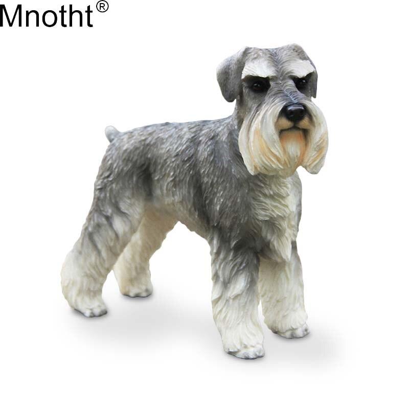 Mnotht 1/6 allemagne Schnauzer Simulation Animal chien modèle scène accessoire jouet pour figurine d'action Collection couché/debout Posture