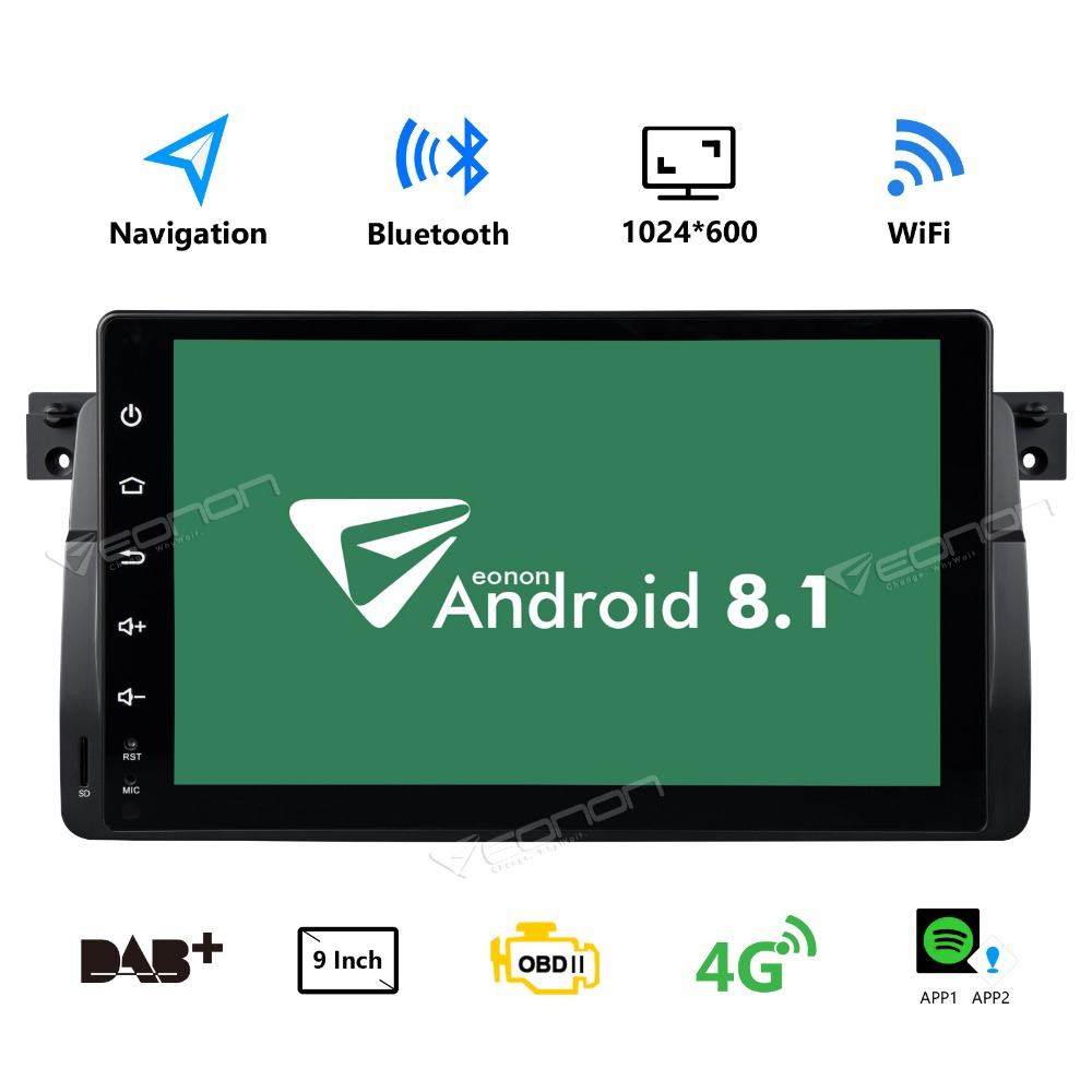 "GA9150KW 9"" Touch Screen Android 8.1 Car Stereo GPS Navigation for BMW E46 3er 318 320 325 M3 WiFi MP3 Bluetooth"