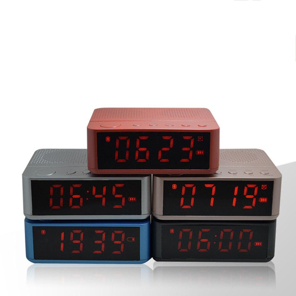 Портативный <font><b>Bluetooth</b></font> Динамик Беспроводной стерео музыка soundbox время Дисплей Будильник <font><b>FM</b></font> Радио TF карты Altavoz Колонки для телефонов