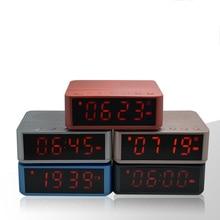 Портативный Bluetooth Динамик Беспроводной стерео музыка soundbox время Дисплей Будильник FM Радио TF карты Altavoz Колонки для телефонов