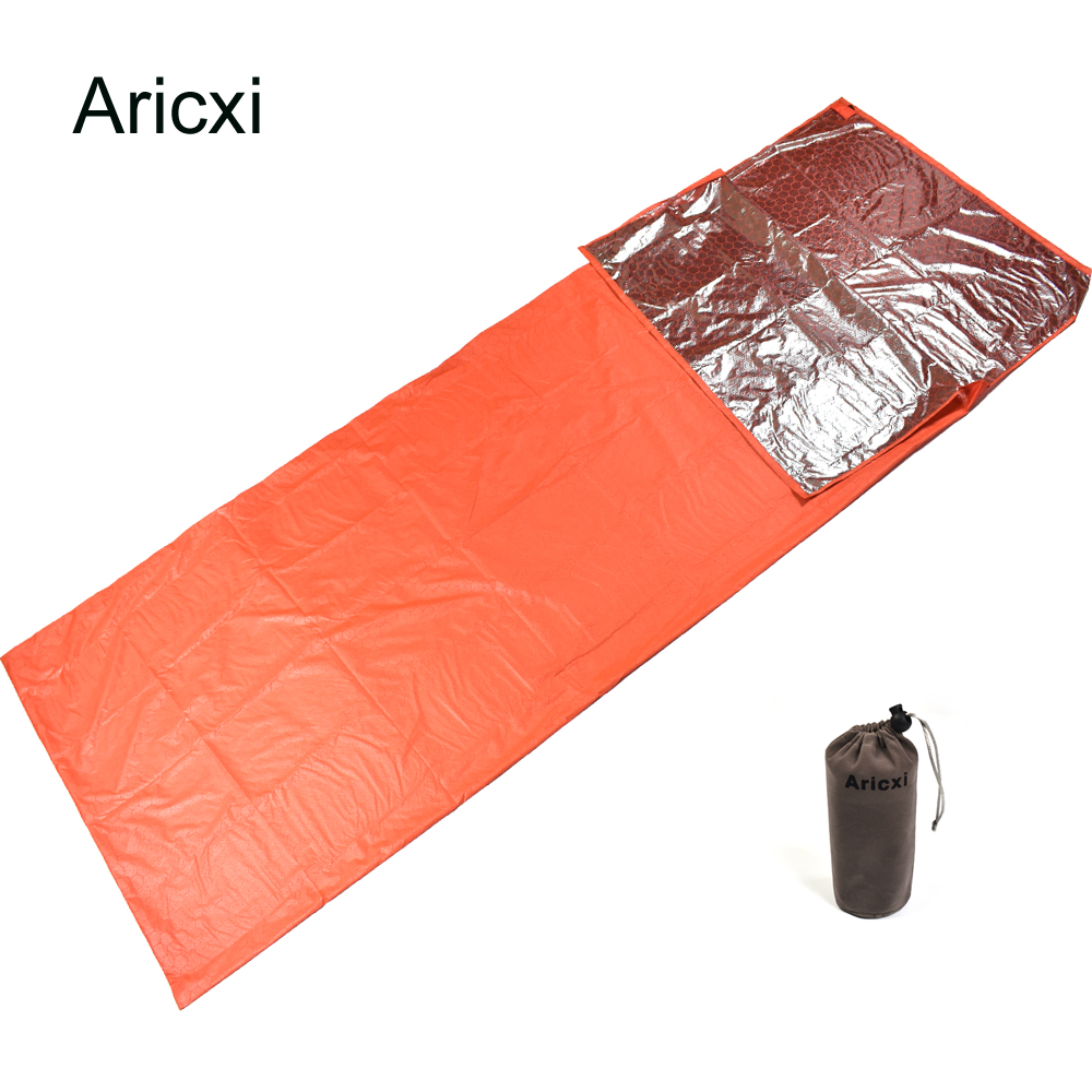 Us 22 0 30 Off Aricxe Mergency Mini Ultralight Width Envelope Sleeping Bag For Camping Hiking Climbing Single Keep You Warm Pouch In