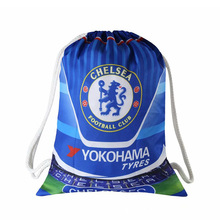Chelsea Football Clubs Swerve Gym Bag Soccer Drawstring Backpack Drawstring Sport Bag for Soccer Fans