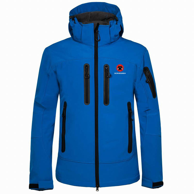 2019 Winter Men's Outdoor Waterproof Jacket Soft shell Hiking Fleece Rain Coat Outdoor Mountaineering Keep Warm Windproof Jacket