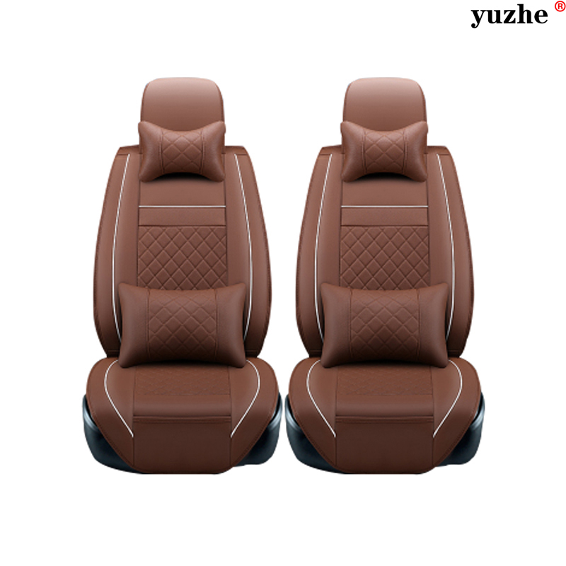 2 pcs Leather car seat covers For Volkswagen passat B5 B6 polo tiguan touran golf mk4 4 5 6 7 jetta car accessories styling
