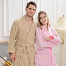 Cotton Bathrbe women men winter towel Pajamas white Night Gown Robe Femme kimono robe Home Dressing Gowns soft warm thicken недорого