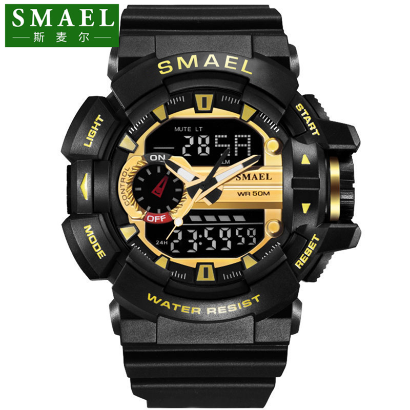 SMAEL Brand Men's Fashion Sport Watches Chrono Countdown Men Waterproof Digital Watch Man military Clock Relogio Masculino skmei brand men s fashion sport watches chrono countdown men waterproof digital watch man military clock relogio masculino new