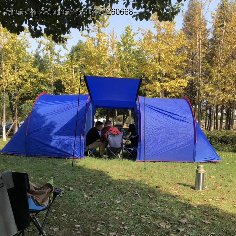 brand new b0277 46cc1 US $180.0 |WJ Outdoor Big Family tent, Quality 8 10 Person Dome Tunnel  Tent, 2 room inner tent 1 hall SNZP024 Outdoor Tunnel Tent-in Tents from  Sports ...
