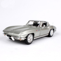 1 18 1965 Chevrolat Corvette Scale Die Cast Model Diecasts Vehicles Collections High Simulation Alloy Car